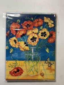 LOT 6 NEW Leanin' Tree THANK YOU Cards TKG41698 Pansy Bouquet Floral