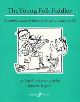 THE YOUNG FOLK FIDDLER - 37 Solo Violin Pieces Sheet Music Book Shop Soiled