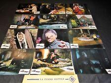 LA FEMME REPTILE ! jeu 12 photos cinema lobby cards fantastique hammer film 1966