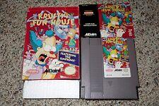 Krusty's Fun House (Nintendo Entertainment System NES, 1992) Complete GOOD