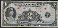 1935 BANK OF CANADA $ 2 DOLLAR BILL CIRCULATED
