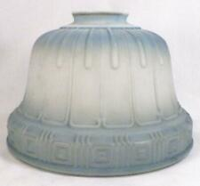 Art Deco Lamp Shade Milk Glass Blue Overspray Vintage #4 Table Stand Ceiling