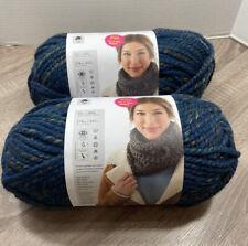 New listing Wool-Ease Thick & Quick Lion Brand Yarn Bonus Bundle 174 Yards Frosty Spruce X2