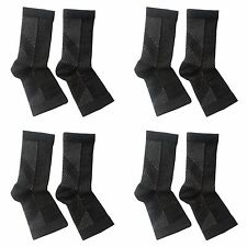 Angel KT Compression Ankle Miracle Foot Plantar Fasciitis Relief 8 Sleeves L/XL