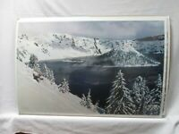 CRATER LAKE SNOW SKIING 1980 VINTAGE POSTER KI SKIER CNG225