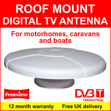 Roof Mount DVB-T Digital TV Antenna for motorhomes, caravans and boats 6M cable