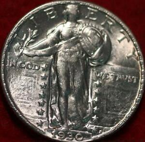 Uncirculated 1930 Philadelphia Mint Silver Standing Liberty Quarter