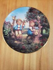 "M.j. Hummel Collection Plate Apple Tree Boy & Girl 8"" in diameter"
