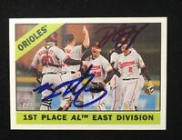 ORIOLES 2015 TOPPS HERITAGE MYSTERY AUTOGRAPHED SIGNED AUTO BASEBALL CARD 348