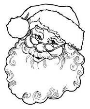 Unmounted rubber stamps Santa Face