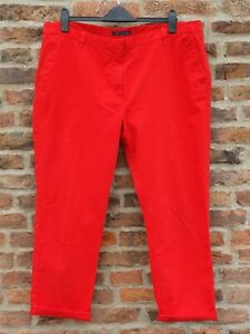 🍂🍁 M&S COLLECTION Red PLUS SIZE 20 Short Ankle Length Jeans Chinos L28 W40