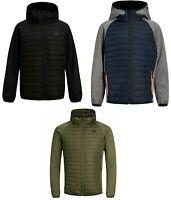 Jack & Jones Boys Kids Children Puffer Quilted Jackets Hooded  Lightweight Coats
