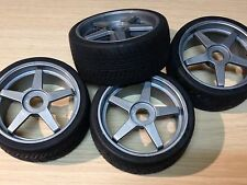 KYOSHO INFERNO GT 1/8th, 4 x SEMI SLICK TYRES ON GREY WHEELS IGH002, OFFER PRICE