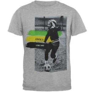 BOB MARLEY-JAMAICA STRIKE HARD-Soccer RASTA-T SHIRT XS, S ,L, XL, XXL IRIE