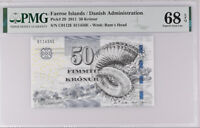 Faeroe Islands 50 KRONUR 2011 P 29 SUPERB GEM UNC PMG 68 EPQ