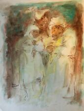 Orientaliste aquarelle signée Louis Moreau vers 1970