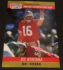 JOE MONTANA 1990 Pro Set ERROR Gold Toned Spots & WRONG BACK Irv Eatman RARE