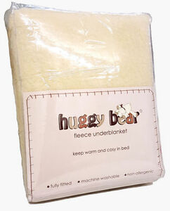 Fully Fitted Bed / Mattress Cover Thermal Fleece Cosy Under Blanket IN ALL SIZES