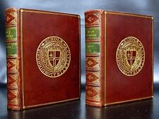 WILD FLOWERS 96 Color Plates FINE BINDING Leather Set PRINTS Antique Books RARE