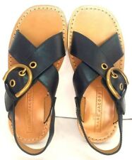 Marc Jacobs Patti Buckled Criss Cross Black Leather Sandals Sz 5.5 (35) MRSP$325