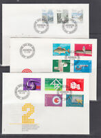 Switzerland Mi 1214/1283, 1982-84 issues, 7 complete sets on 7 cacheted FDCs