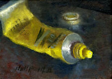 Cadmium Yellow Artist Oil Paint 5 x7 in. Original Oil on canvas  HALL GROAT II