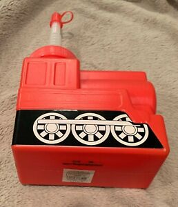 Kids Red Train Shaped Cup with Lids and Straws NEW
