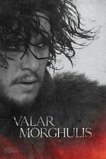 Game of Thrones Poster - Jon Snow - VALAR MORGHULIS - HBO TV Poster