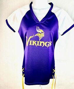 NFL Minnesota Vikings Football Ladies Purple Fitted Draft Me Jersey