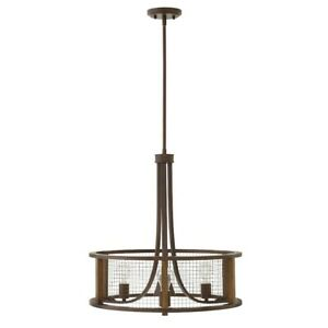 Hinkley Lighting Beckett 3 Light Chandelier Small Pendant, Iron Rust - 4824IR