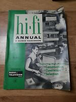 HI-FI ANNUAL & AUDIO HANDBOOK 1956 stereo amp amplifier pre tube