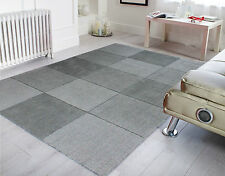 Wool Squares Light Grey - 60 X 100 Cm