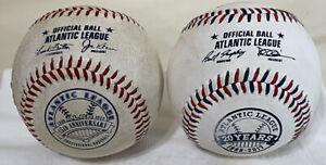 (2) Atlantic League Rawlings Official Balls 15th & 20th Anniversary Minor League