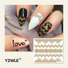 Nagelsticker  Fingernägel Aufkleber Tattoo Nail Art Nageldesign gold 6010