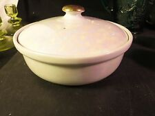 """Pearl Luster Covered Casserole 7-3/4"""" Ohio Made in U.S.A."""