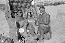 Negativ-Happy nude Girls-strandkorb-Flandern-Dünen-FKK-man-boys-party-1