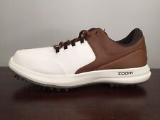 Nike Mens Air Zoom Accurate Size 10 Golf Shoes White/Light Tan (909723-102)