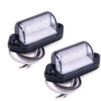Universal 2x Auto Lampe Anhänger LKW 3 LED Kennzeichenbeleuchtung Weiß Boot