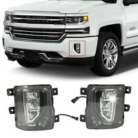 For 2016-2018 Chevy Silverado 1500 LED Fog Lights Driving Bumper Lamps w/Switch