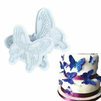 2Pcs/Set Butterfly Cake Fondant Sugarcraft Mould Cookie New Plunger Mold B6 K1H1