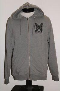 RVCA Mens Large L zip-up reversible hoodie/hooded Sweatshirt