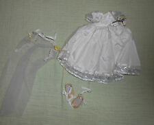 Doll Terri Lee Clothing Tiny Bridal Costume with Shoes Embroidered Tag 1950s