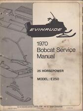1970 EVINRUDE BOBCAT SNOWMOBILE 25HP SERVICE MANUAL