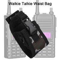 Universal Walkie Talkie Waist Bag Two Way Radio Carry Case Holder Holster Pouch