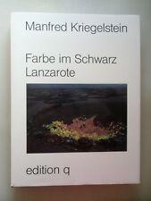 Farbe im Schwarz Lanzarote Manfred Kriegelstein 1984 Malerei