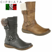 49c1a40c6ee Cipriata Romia Womens Ladies Black Zip Tall Boots Comfort Fit Size 4 ...