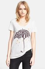 Burberry Brit Beetroot London Weather Umbrella Graphic S/S Tee Top $150 NWT XS