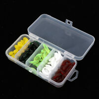 70pcs Soft Worm Insects Corn Fishing Lure with Small Transparent Box