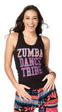 ZUMBA RACERBACK TOP - DANCE TRIBE - BLACK - SIZE XXL - BNWT