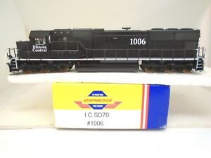 Athearn Genesis Ho SD-70 locomotive, Illinois Central 1006, DCC,no lights